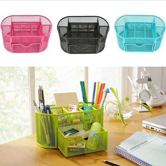 Office & School Supplies Good Free Shipping Desk Mesh Pen Pencil Holder Office Supplies Multifunctional Digital Led Pens Storage Desk Accessories & Organizer