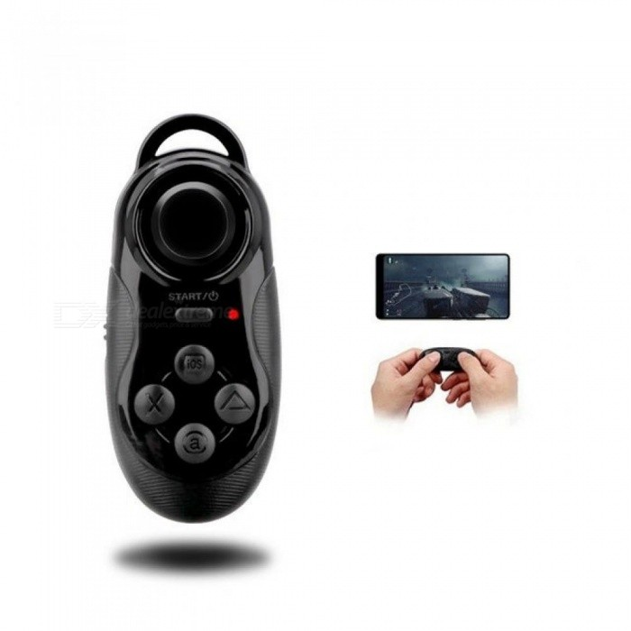 Mini Gamepad Bluetooth Gamepad Game Controller Joystick Selfie Remote  Shutter Wireless Mouse For iOS Android Smartphone TV Box Black