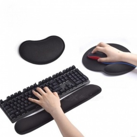 Mechanical Keyboard Wrist Rest Pad Mouse Wrist Rest Pad Ergonomic Memory Foam Set Comfort Mouse Pad For Office Computer Laptop Mouse With Pad