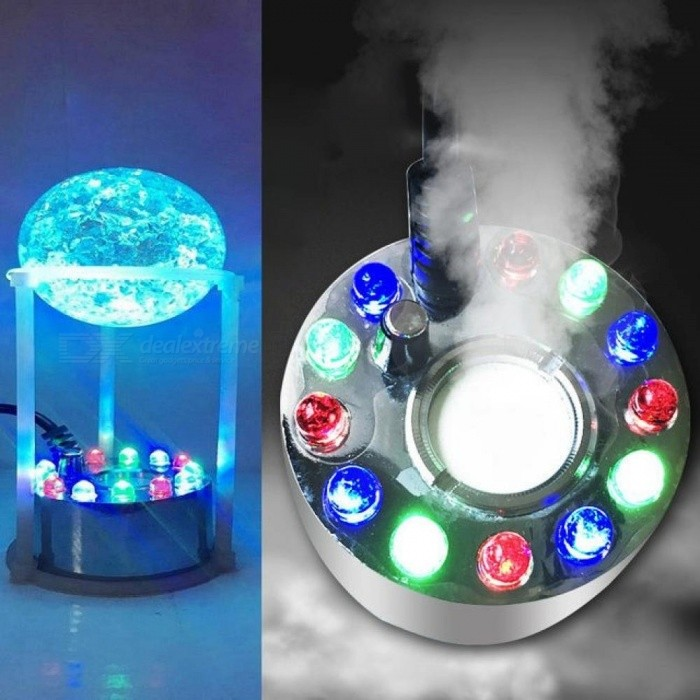 12 LEDs Ultrasonic Mist Maker Fogger Water Fountain Pond Fog Machine  Atomizer Air Humidifier Size 4 5*3CM UK
