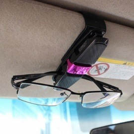 Universal Car Auto Sun Visor Clip Holder For Reading Glasses Sunglasses Eyeglass Card Pen  Sunglass Clip Titanium Gray