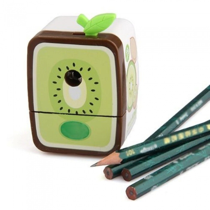 Walnut Hand Pencil Sharpener Stationery Pencil Sharpener For Office & School Supplies Accessories With Green Color