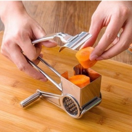 Rotary Cheese Grater Stainless Steel Cheese Slicer Kitchen Cheese Butter Cutter For Cake Chocolate Fondue Cooking Baking Tools White