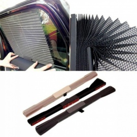 Car Window Retractable Sun Shade Shield Visor 60 x 40cm Window Sunshade Curtain Roller Blinds Automatic Rolling Shield Gary