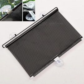 125 x 40cm Sun Shield Car Window Black Roller Block Blinds Shades For Sun Visor Windshield Retractable Car Auto Sun Shade 124*40cm