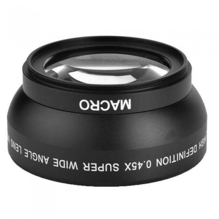 0.45X 52mm Wide Angle Lens with Macro for Nikon Coolpix D40/ D60/ D70s/ D3000/ D3100/ D5000 for Sony DSLR Camera Universal