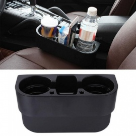 Universal Car Seat Side Gap Cup Holder Auto Truck Food Drink Water Bottle Phone Holder Vehicle Beverage Organizer Stand Black