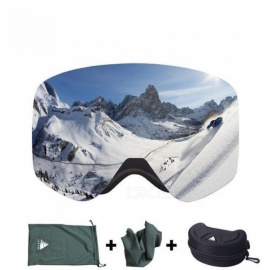 Ski Goggles with Case Double Lens UV400 Anti-fog Ski Snow Glasses Skiing Men Women Winter Snowboard Eyewear HB108 Red