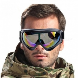 Skiing Snowboarding Glasses Paintball Sport UV400 Protection for Hunting Airsoft Snow Snowboard Goggles Colorful Lens Black