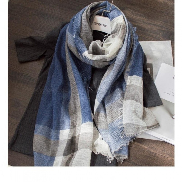 4ed4b2ebd2d British Style Plaid Men Scarf Winter Classical for Men and Woman Imitation  Cashmere Scarves Tassel Unisex Gray - Worldwide Free Shipping - DX