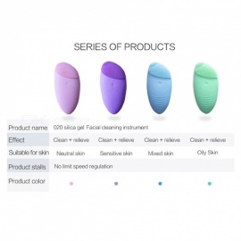 Facial Cleansing Brush Sonic Vibration Mini Face Cleaner Silicone Deep Pore Cleaning Electric Waterproof Massage Pink