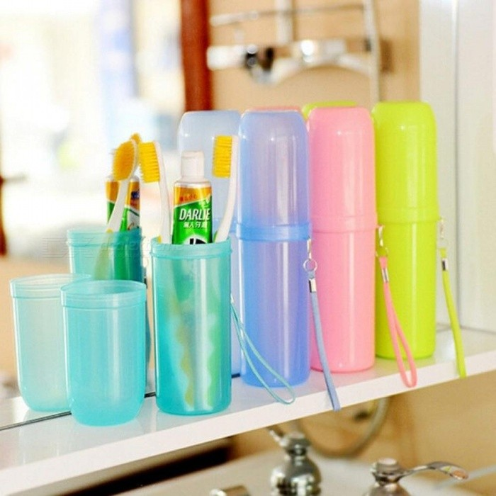 Travel Set  Toothbrush Cup Storage Box Home Organizer Candy Color Toothpaste Tooth Brush Towel Wash Gargle Cup Travel