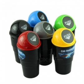 Car Garbage Can Car Trash Can Garbage Dust Case Holder Bin With Multi Color For Option Size 20*10*6.7cm Yellow