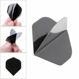 Classic Simple Pure Black Color PET Material Detachable Dart Flights For 30 Pieces Each Set For Children 30pcs
