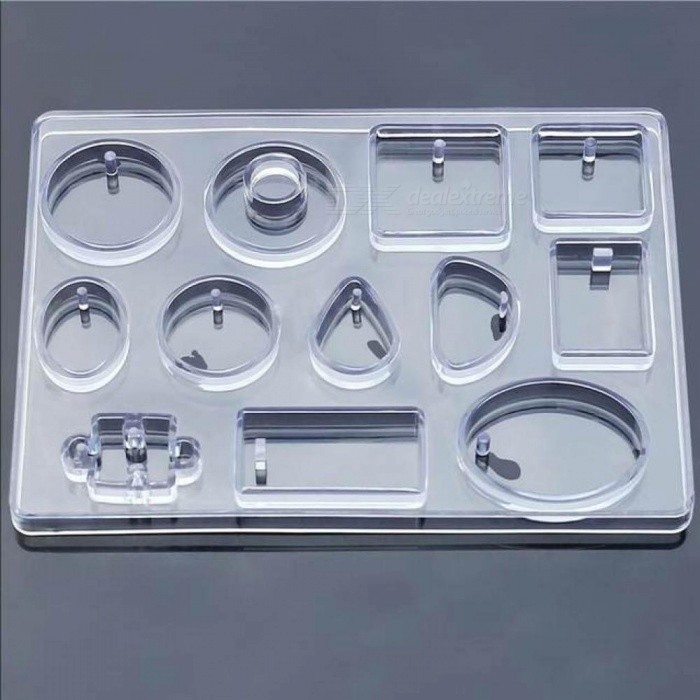 12 Designs Cabochon Silicone Mold Necklace Pendant Resin Jewelry Making  Mould DIY Hand Craft Resin Molds for Jewelry Clear