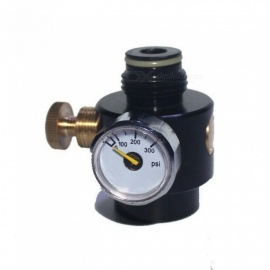 Airsoft PCP Paintball Tank Cylinder Adjustable Compressed Air Regulator Output Pressure 0-300 PSI 0.825-14 NGO Thread Compressed Air
