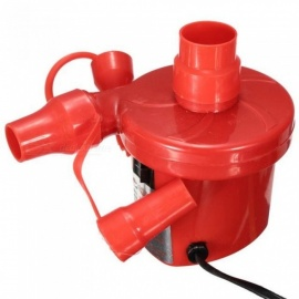 AC 220V 50HZ Air Pump Inflate Deflate for Air Bed Compression Bag Mattress With US Plug With Red Color Red
