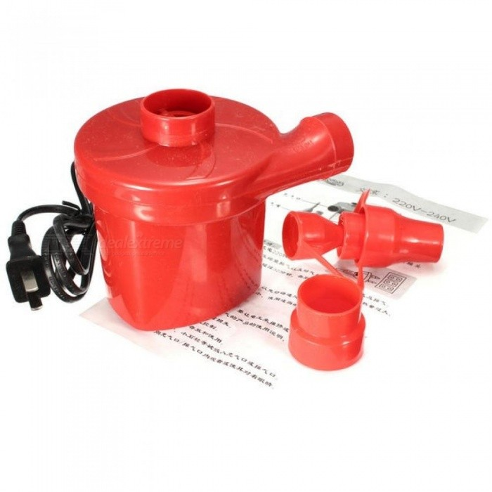 AC 220V 50HZ Air Pump Inflate Deflate for Air Bed Compression Bag Mattress With US Plug With Red Color