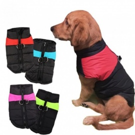 8 Size S-5XL Winter Dog Clothes For Pet Waterproof Warm Large Dog Vest Cat Puppy Dog Ski Coats Jackets Green/Red/Blue/Pink S/Green