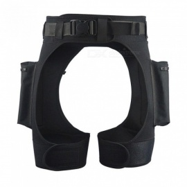Neoprene 3mm Tech Shorts Diving Equipment Double D-rings Submersible Pocket Leg Pockets Drop Pants Bandage Pant For Scuba Diving Size Fits All/Black