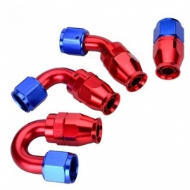 AN10 Swivel PTFE Teflon Hose End Fitting Straight 45 90 180 Degree For Teflon Oil Fuel Line With Red Color Straight