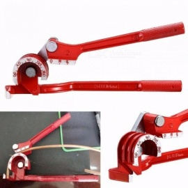 180 Degree Pipe Bending Tool Heavy Duty Tube Bender Aluminum Alloy Tubing Bender Brake Fuel Line Curving Pliers Red