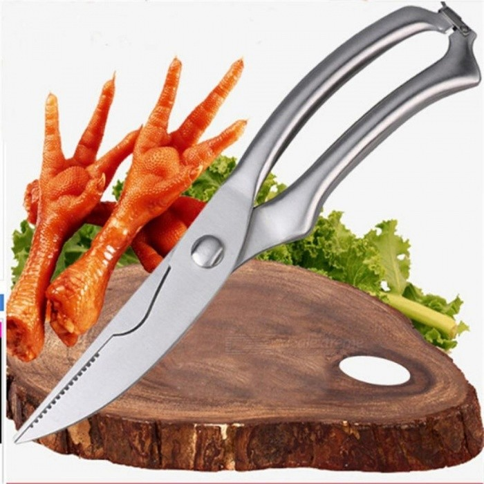 Stainless Steel Kitchen Scissors Shears Chicken Bone Fish Scissors Kitchen Accessories Gadgets Chef Japanese Knife Cooking Tools