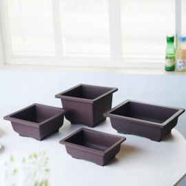 Imitation Plastic Flower Pot Balcony Square Flower Bonsai Bowl Nursery Basin pots Planter Rectangle Flower Pots S
