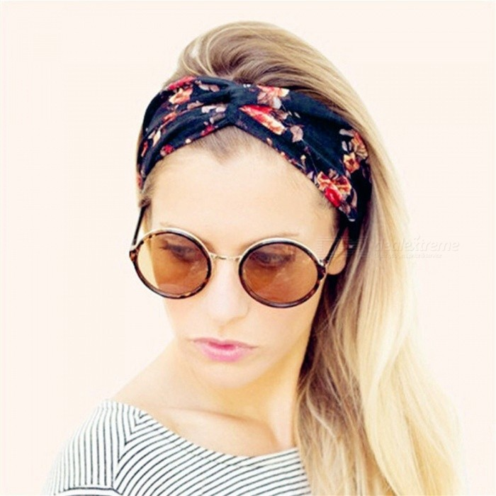 Ladies Hair Band Twist Knot Pattern Headband Elastic Head Wrap Turban  Flower Hair Accessories For Women E - Worldwide Free Shipping - DX c4432a1501a