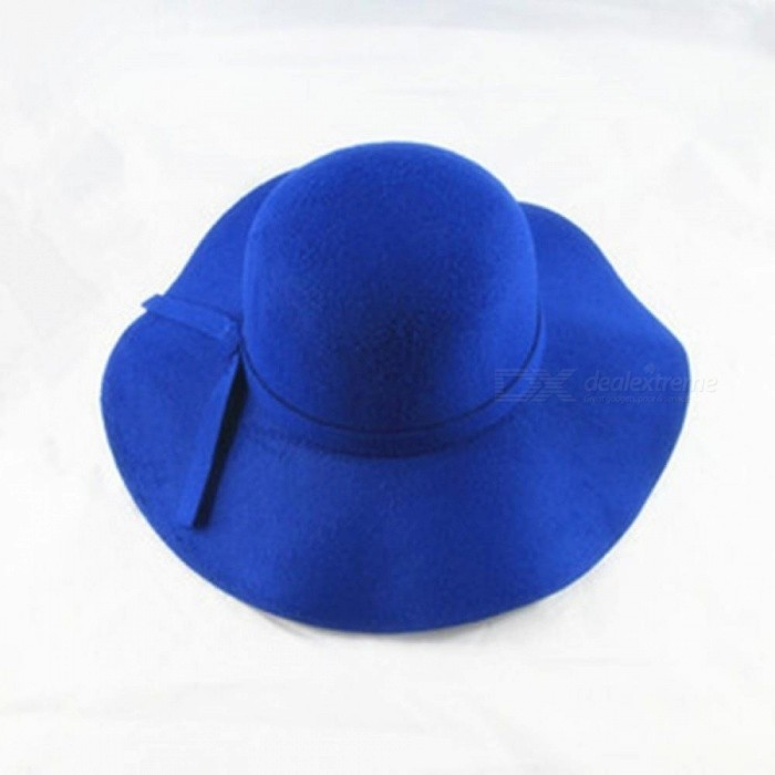 23cd5dec8c91ee ... Vintage Retro Kids Child Boy Girl Hats Fedora Polyester Felt Crushable Wide  Brim Cloche Floppy Sun ...
