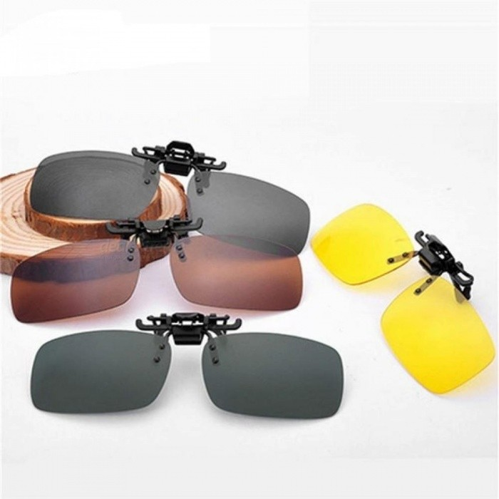 79341138b6 Men Women Retro Flip Up Polarized Sunglasses Clip On Myopia Glasses Kids  Day Night Vision Goggles Sunglasses UV400 Three Sizes S Size L Size -  Worldwide ...