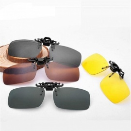 Men Women Retro Flip Up Polarized Sunglasses Clip On Myopia Glasses Kids Day Night Vision Goggles Sunglasses UV400 Three Sizes S Size/L Size