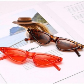 Small Sunglasses Women Cat Eye Vintage Black Leopard Red Triangle Stylish Cat-Eye Sunglasses Female 2018 Gift uv400 Oculos Black
