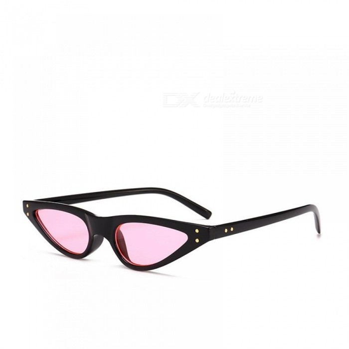 8d42df409365e Small Sunglasses Women Cat Eye Vintage Black Leopard Red Triangle Stylish  Cat-Eye Sunglasses Female
