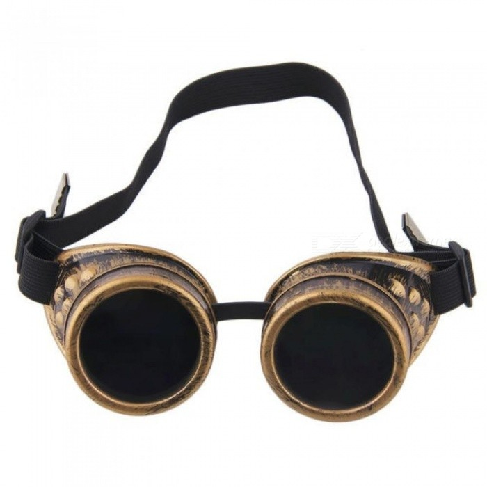 6ee304c05b17 Steampunk Glasses Vintage Retro Welding Punk Gothic Sunglasses Fashion Retro  Steampunk Cyber Goggles Glasses Silver - Worldwide Free Shipping - DX