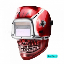 Battery Outside Control Auto Darkening Grind Welding Helmet/Welder Goggles/Welder Mask Welding Mask With Red Color Red Skull