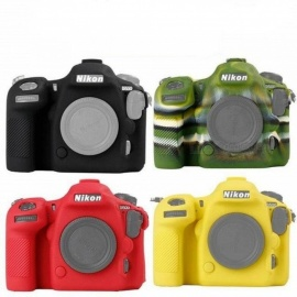 D500 Silicone Lightweight Camera Bag Case Cover for Nikon D500 Red/Yellow/Black/Green Color Multi Color For Optional Red