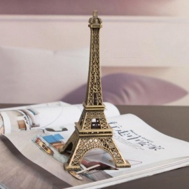 Creative Gifts 10cm Metal Art Crafts Paris Eiffel Tower Model Figurine Zinc Alloy Statue Travel Souvenirs Home Decorations 10cm