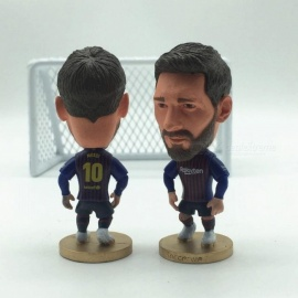 Soccer Superstar NBC 10 Lionel Messi Doll Statue Portrait Blue Red Mini Doll Size For 2.55 Inches For 1PCS Messi