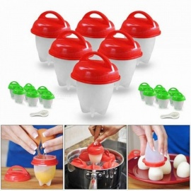 Silicone Egglettes Egg Cooker Timer Green Hard Boiled Egg Tools Timer Eggies Tools For 7 Pieces Each Lot  Egglettes