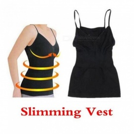 Slimming Vest Weight Loss Fat Burning Fitness Body Black Color Vest Corset Body Shaper Chest UP Girly Stretch Yoga Exercise Vest Black