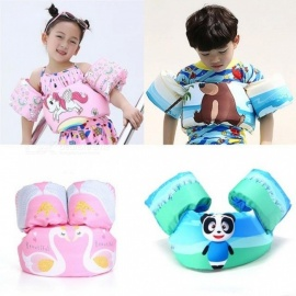 Summer Bath Toy Cartoon Unicorn Life Jacket Safety Vest Puddle Crab Dolphin Flamingo Bear Panda Shark Swimming Fish For Kid Baby Panda