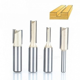 "1PCS 1/4"" 1/2"" Shank 2 flute straight bit Woodworking Tools Router Bit for Wood Tungsten Carbide Endmill Milling Cutter 2946"