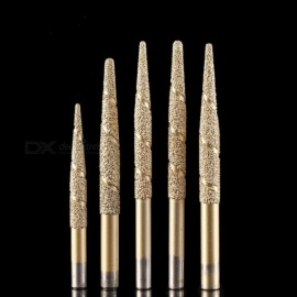 Brazing Stone Engraving Bits Marble Carving Tools CNC Router Bits CNC Router Machine Milling Cutters Golden ZD10.3-100