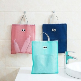 Waterproof Portable Women Cosmetic Makeup Bag Travel Wash Storage Bag Tote Toiletries Laundry Shoe Pouch Take A Shower Bags Blue
