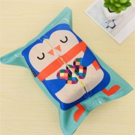Cartoon Animals Cotton Linen Tissue Box Towel Napkin Dispenser Storage Bag Paper Holder Cover Tissue Case Desktop Organizer Monkey