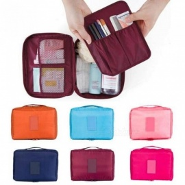 Travel Cosmetic Makeup Toiletry Case Wash Organizer Storage Pouch Hanging Bag With Multi Colors For Option Red