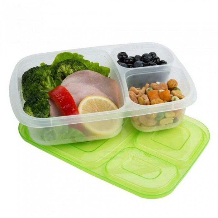 Plastic Bento Lunch Box Microwave Food Storage Containers with Compartments Portable Kids School office Lunch Box Dinnerware Set 1pc Random Color ...