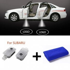 Led Car Door Projector High-Definition Car Logo Door Light For SUBARU Forester Outback Legacy Impreza XV  Car Welcome Light 2PCS 2pcs
