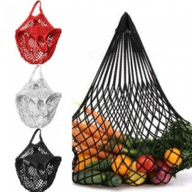 Reusable String Shopping Grocery Bag Shopper Tote Mesh Net Woven Cotton Bag Hand Totes Multi Color Optional For 1PC  Green